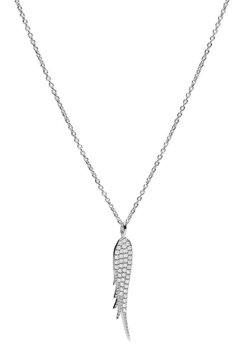 Fossil Kette mit Anhänger »Flügel, STERLING SILVER, JFS00535040«, mit Zirkonia