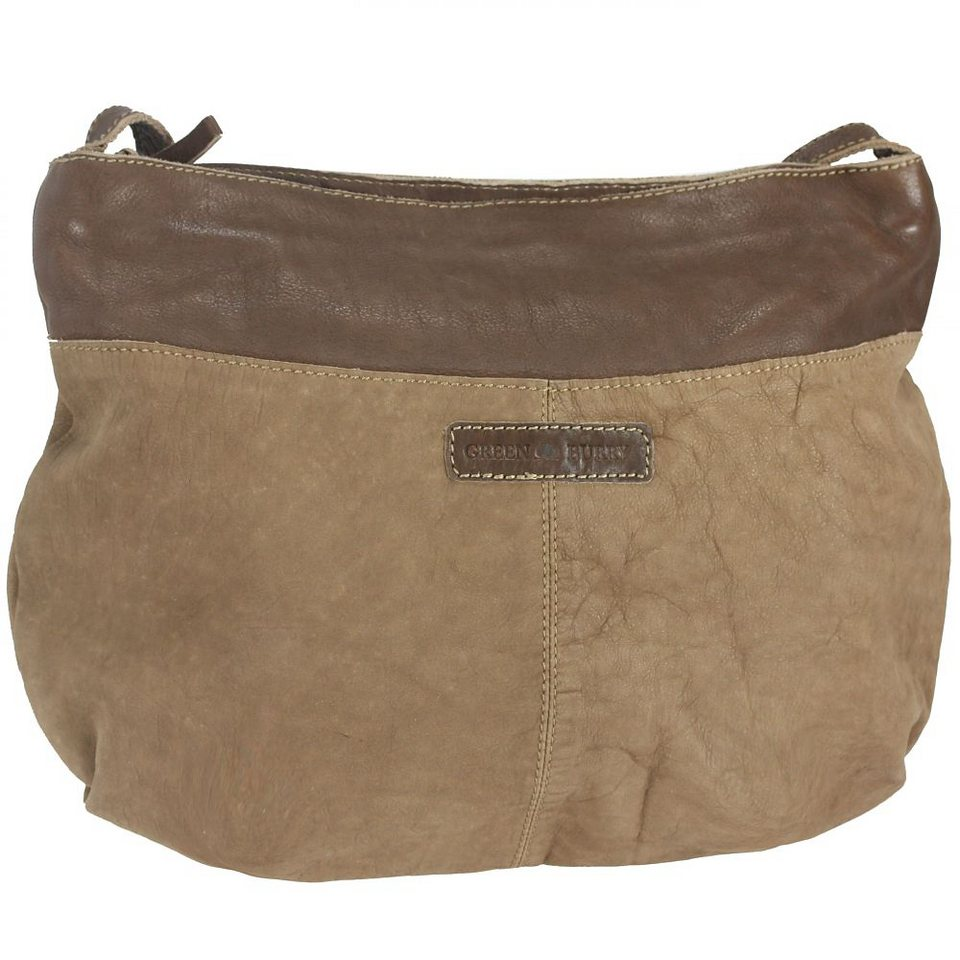 Greenburry Drum Washed Cow Hobo Bag Umhängetasche Leder 47,5 cm in camel-brown