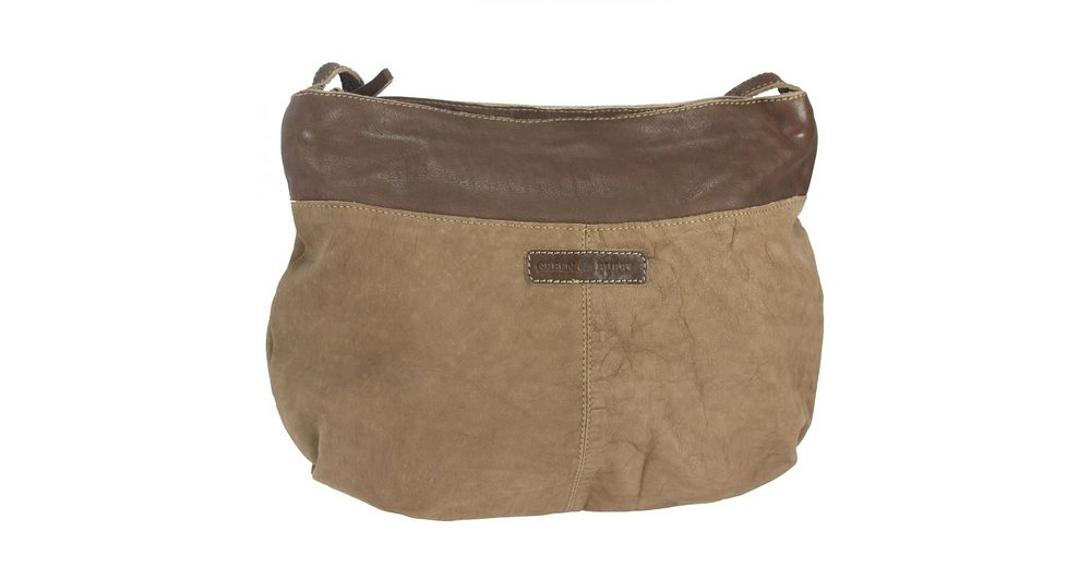 Greenburry Drum Washed Cow Hobo Bag Umhängetasche Leder 47,5 cm