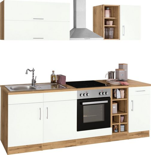 HELD MÖBEL Küchenzeile »Colmar«, mit E-Geräten, Breite 240 cm