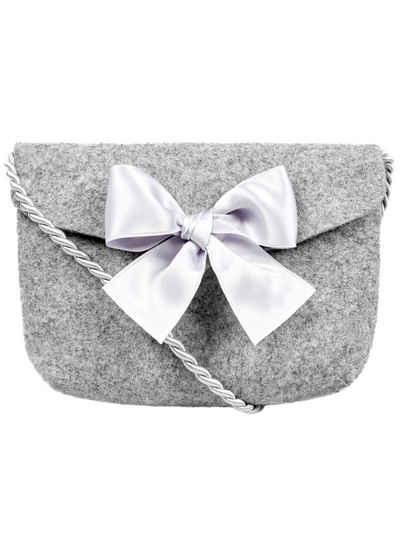 Almbock Trachtentasche »Dirndltasche Lilly«, handgemachte Wollfilztasche, grau
