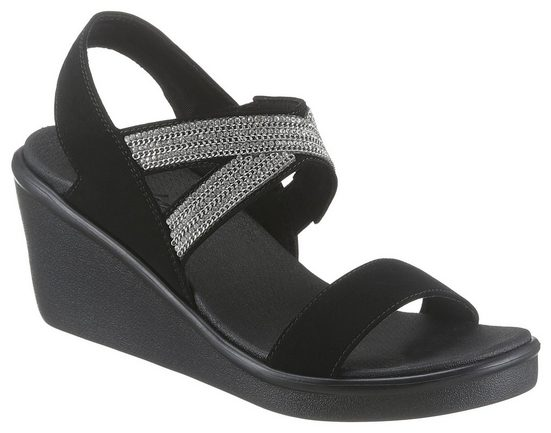 Skechers »Rumble On - Chart Topper« Keilsandalette mit modischer Zierkette