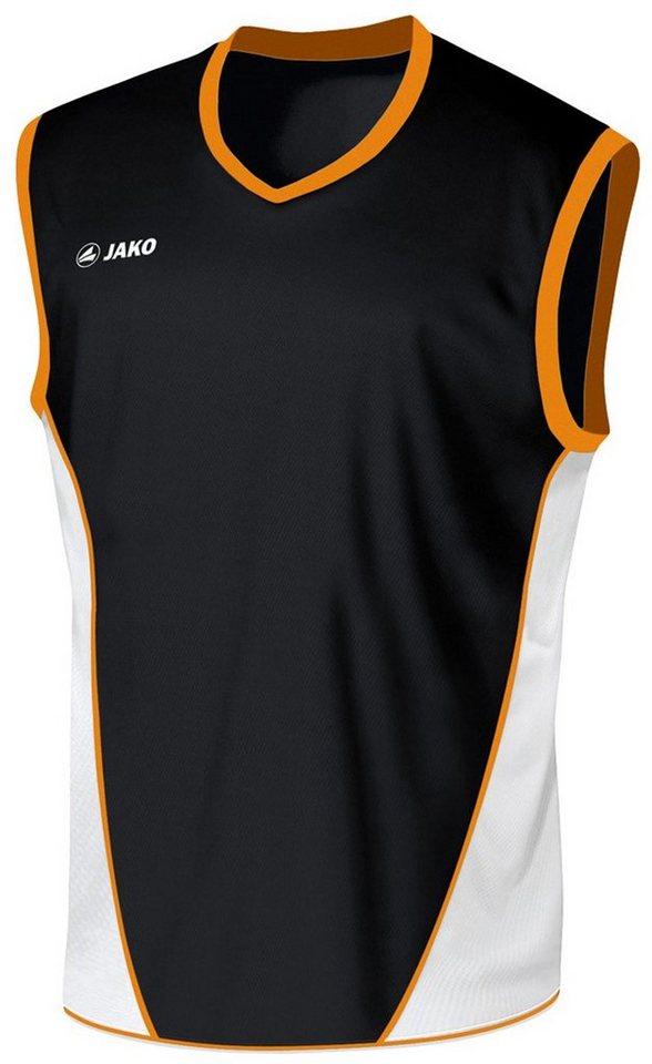 JAKO Basketball Trikot Magic Kinder in schwarz/weiß/orange