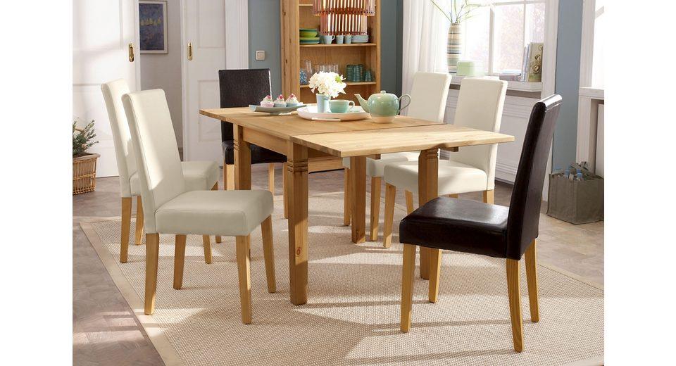 Massivholz-Esstisch, Home affaire, quadratisch