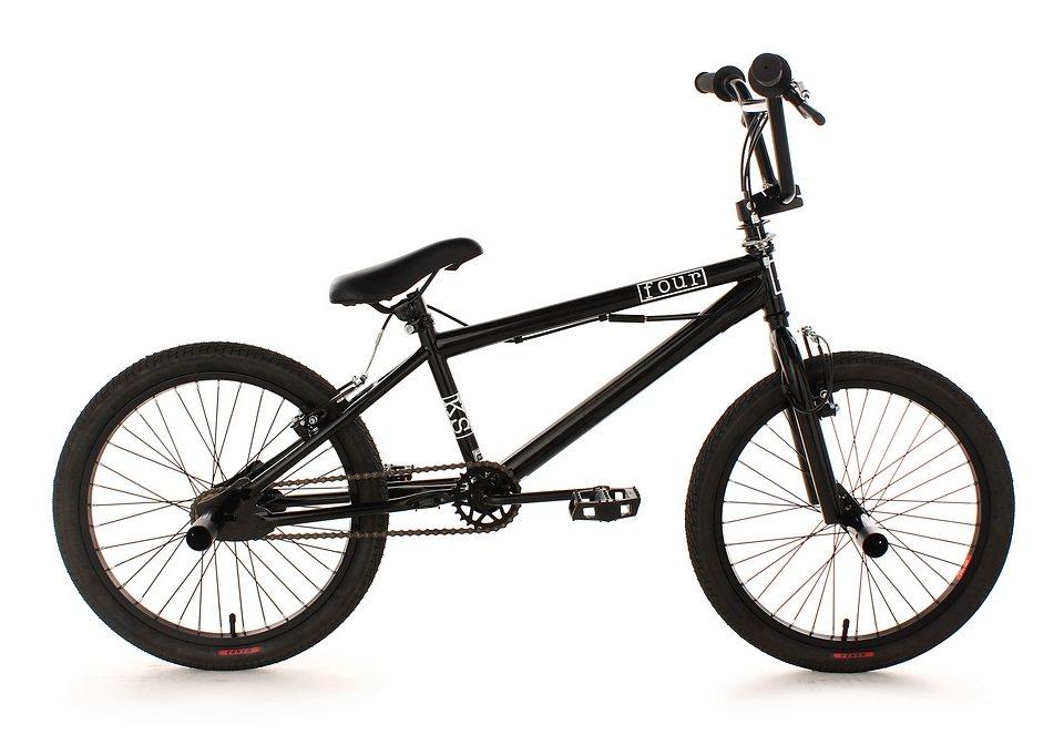 BMX Fahrrad, KS Cycling, »Four«, schwarz, 20 Zoll, Alu-V-Brakes in schwarz