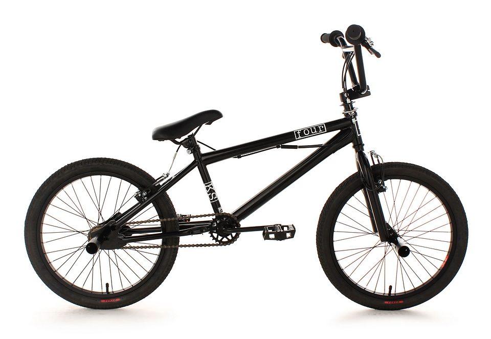 BMX Fahrrad, KS Cycling, »Four«, schwarz, 20 Zoll, Alu-V-Brakes