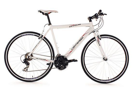 KS Cycling Fitnessbike »Lightspeed«, 21 Gang Shimano Tourney RD-TX 35 Schaltwerk, Kettenschaltung