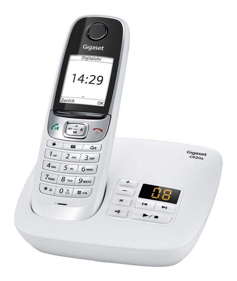 Gigaset C620A Schnurloses DECT Telefon mit AB in weiß