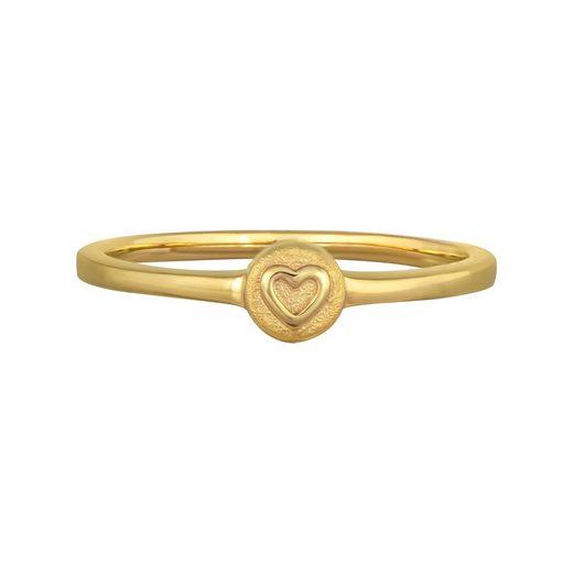 CAÏ Silberring »925/- Sterling Silber vergoldet Herz«