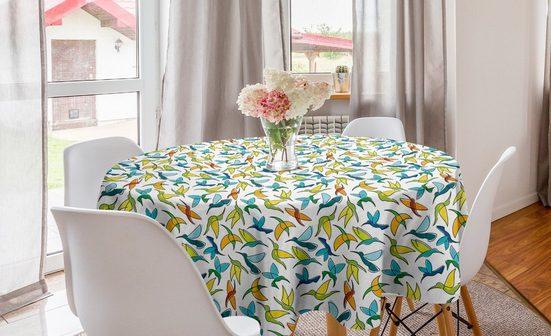 Abakuhaus Tischdecke »Kreis Tischdecke Abdeckung für Esszimmer Küche Dekoration«, Kolibri Abstrakte Vogel-Grafik