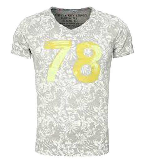 Key Largo Rundhalsshirt »Key Largo MT Palm T-Shirt top modisches Herren Baumwoll-Shirt Kurzarm Sommer-Shirt Hellgrau«