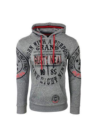 Rusty Neal Sportinis megztinis su gobtuvu su ange...