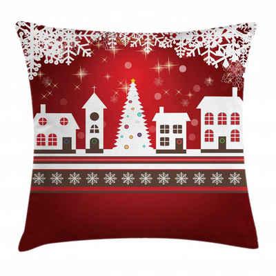 Abakuhaus Kissenbezug »Waschbar mit Reißverschluss Kissenhülle mit Farbfesten Klaren Farben Beidseitiger Druck«, Weihnachten Winter-Thema-Baum