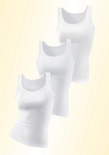 Damen Petite Fleur Baumwoll- Hemden (3 Stück) weiß   04035156109501