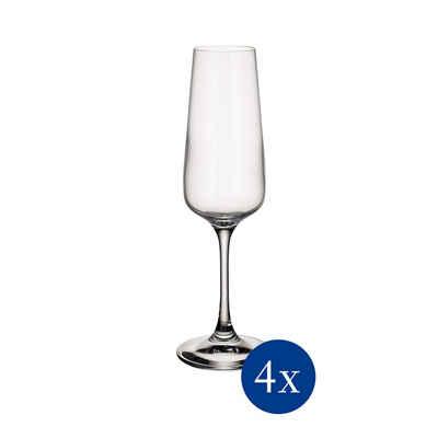 Villeroy & Boch Champagnerglas »Ovid Champagnerglas Sektkelch 250 ml 4er Set«, Glas