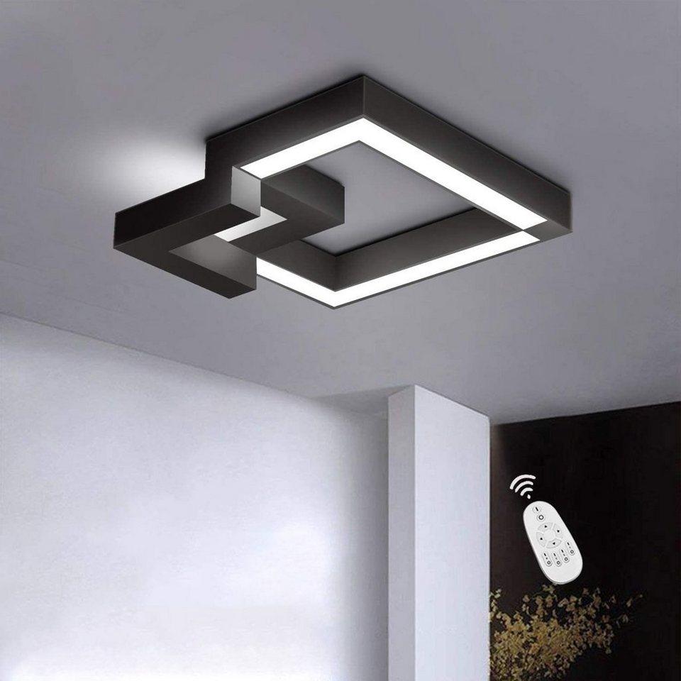 ZMH Deckenleuchte »LED Deckenlampe Dimmbar mit Fernbedienung farbwechsel  Eckig stufenlos für Wohnzimmer Badezimmer« online kaufen   OTTO