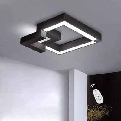 ZMH Deckenleuchte »LED Deckenlampe Dimmbar mit Fernbedienung farbwechsel Eckig stufenlos für Wohnzimmer Badezimmer«