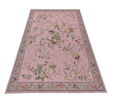 Teppich »Flomi Sagrini«, THEKO, rechteckig, Höhe 3 mm, Flachgewebe, Pastell-Farben, Blumen Design, Wohnzimmer