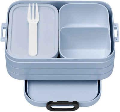 Mepal Lunchbox »Bento-Lunchbox Take A Break Nordic Blue midi«, Polypropylen (PP), Acrylnitril-Butadien-Styrol (ABS), Thermoplastische Elastomere (TPE), BPA-frei