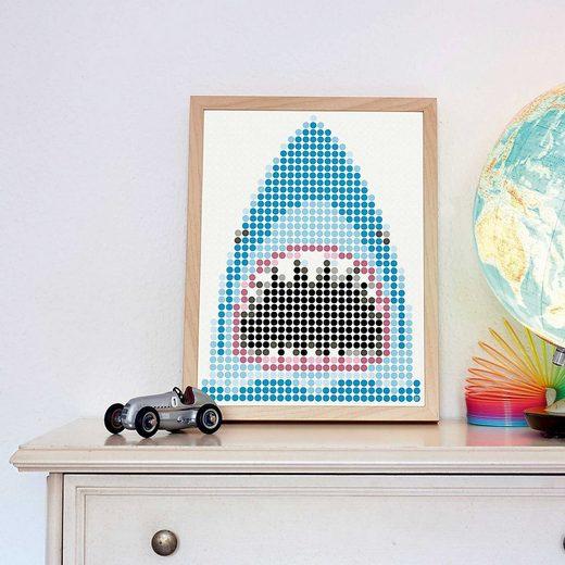 Dot On Malvorlage »dot on art pirate - shark, 30 x 40 cm«