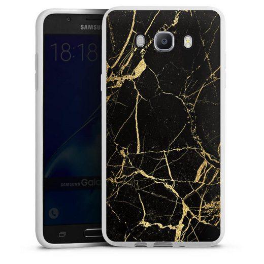 DeinDesign Handyhülle »BlackGoldMarble Look« Samsung Galaxy J7 (2016), Hülle Gold & Kupfer Marmor Muster