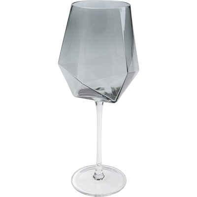 KARE Glas »Weinglas Diamond Smoke«, Glas