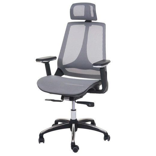 MCW Schreibtischstuhl »MCW-A59«, Luftzirkulation, Höhenverstellbare und neigbare Kopfstütze, In der Tiefe verstellbare Sitzfläche
