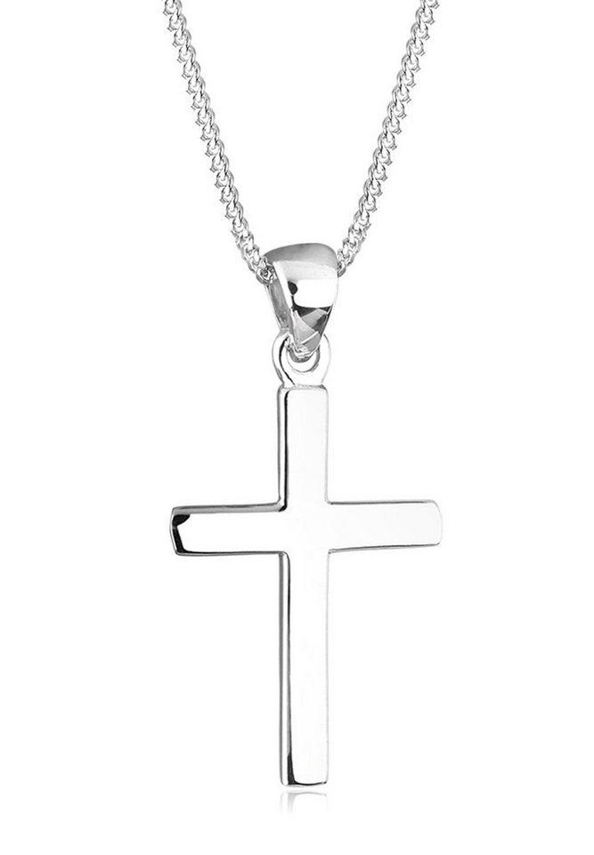 Elli Halskette »Kreuz Symbol Basic 925 Silber« in Silber