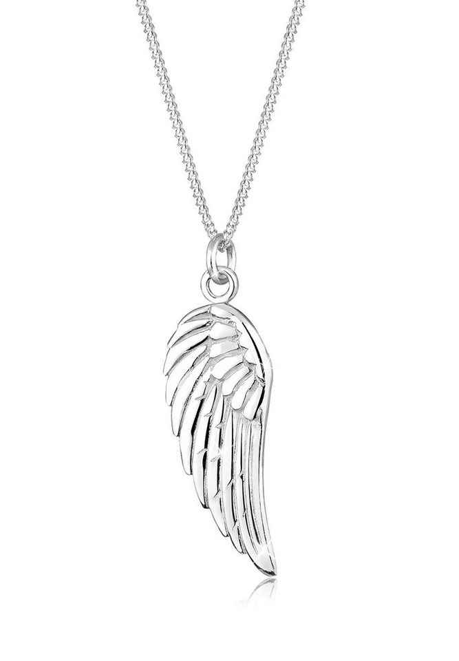 Elli Halskette »Engel Flügel Boho Geschenkidee 925 Silber« in Silber