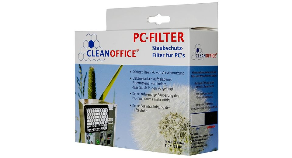 CLEANOFFICE PC-Zubehör »PC-Filter - 2 Filter Pack«