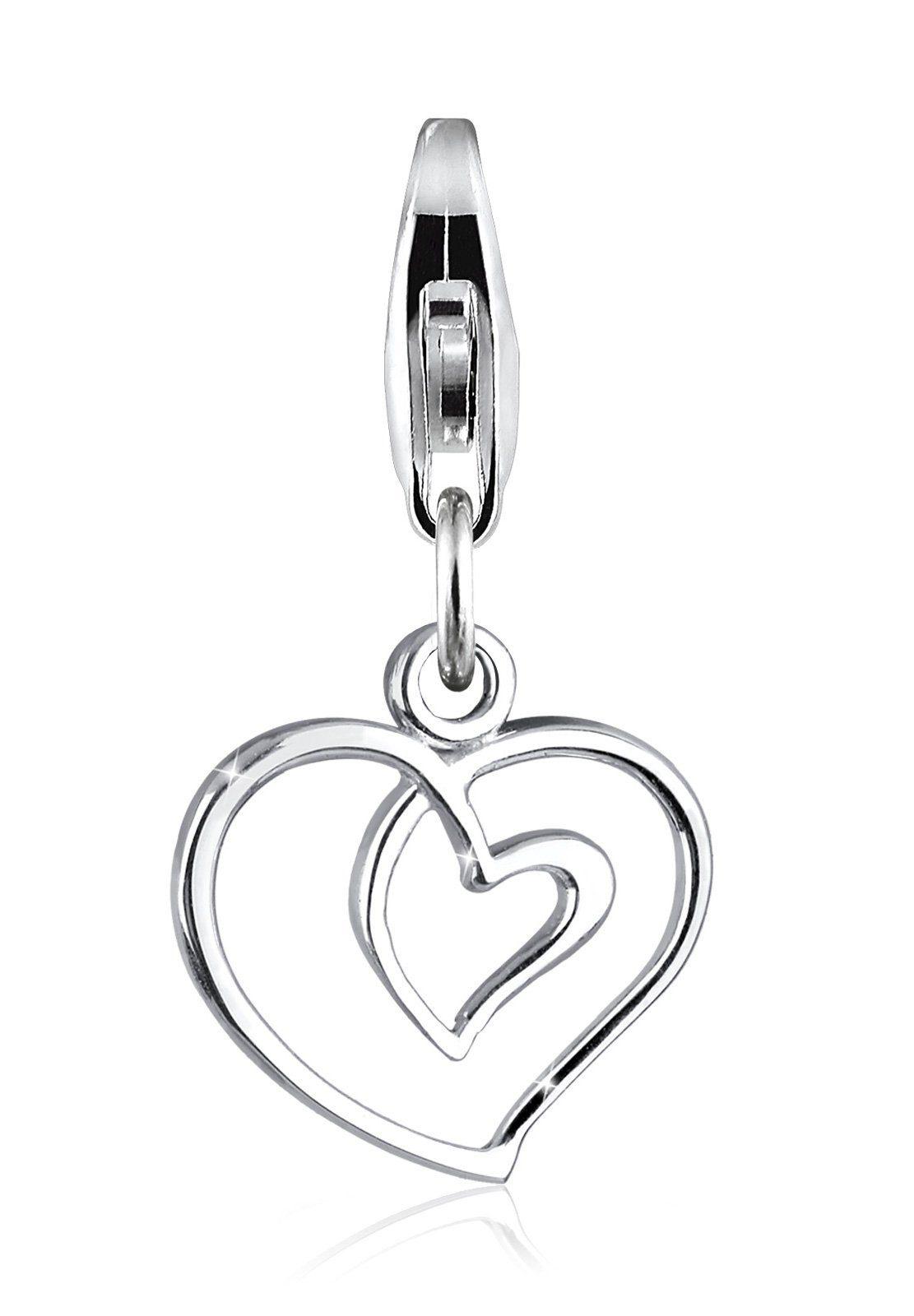 Elli Charm »Herz Liebe Verschlungen 925 Silber«