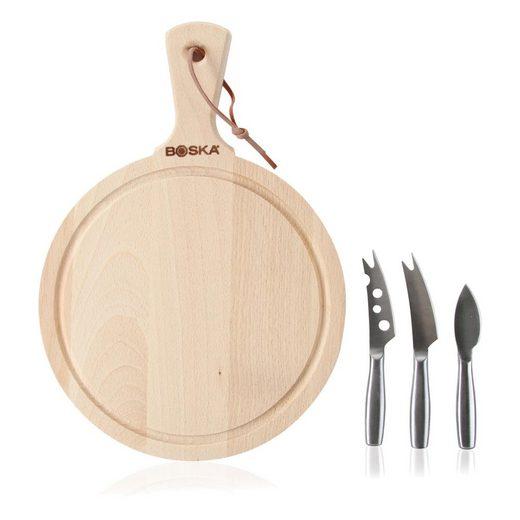 BOSKA HOLLAND Messer-Set »Käseset Amigo« (4-tlg), mit Käsebrett