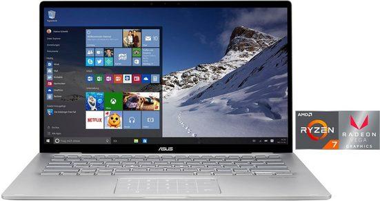 Asus ZenBook Flip 14 UM462DA-AI023T Convertible Notebook (35,56 cm/14 Zoll, AMD Ryzen 7, 512 GB SSD, inkl. Office-Anwendersoftware Microsoft 365 Single im Wert von 69 Euro)
