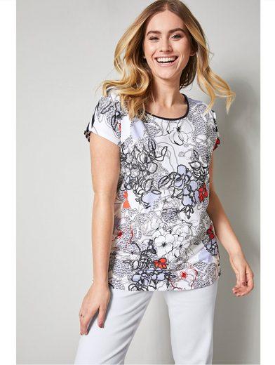 Sara Lindholm by Happy Size Shirt mit Blütendruck