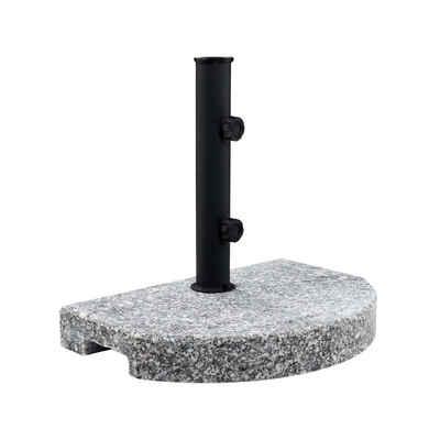 BUTLERS Schirmständer »THE ROCK Schirmständer halbrund 15kg«, grauer halbrunder Standfuß 15kg - Ständer aus Granit und Stahl - Sonnenschirm, Schirm