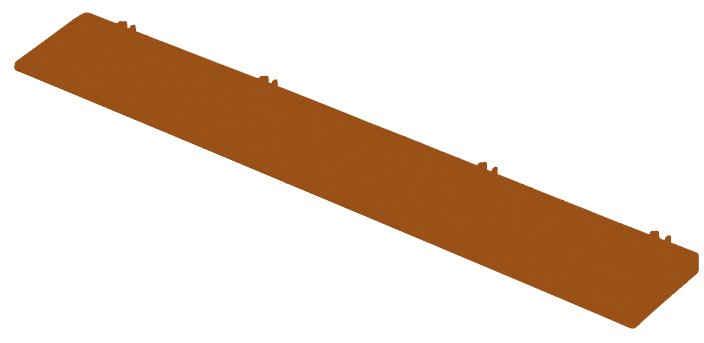 Bergo Flooring Klickfliesen-Kantenleiste, für Kunststofffliesen in Terra