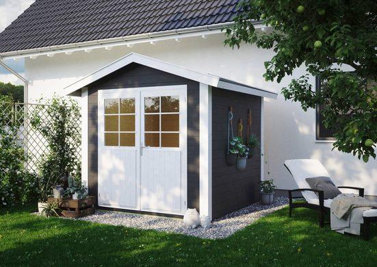 Kiehn-Holz Gartenhaus »Lillevilla 563«, BxT: 272x252 cm, inkl. Aufbau und Fußboden