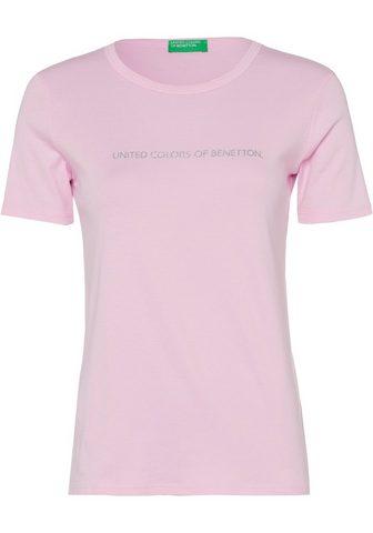 United Colors of Benetton Marškinėliai su blizgantis Label-Print...