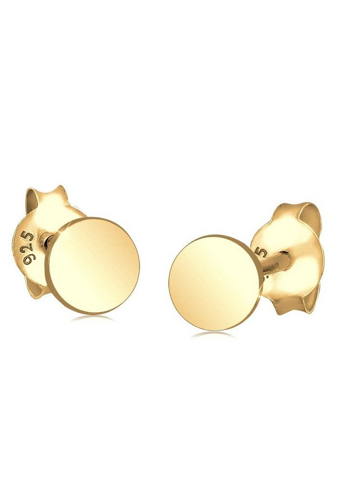 GOLDHIMMEL Ohrringe »Basic Ohrstecker Kreis vergoldet« in Gold
