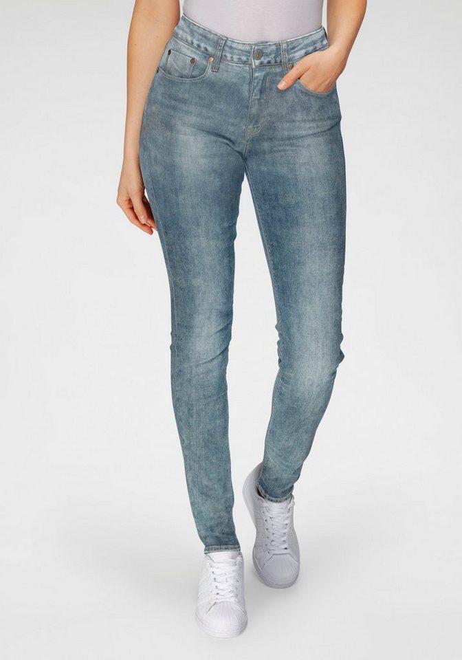 herrlicher -  High-waist-Jeans »SUPER G« im Authentic Used Look