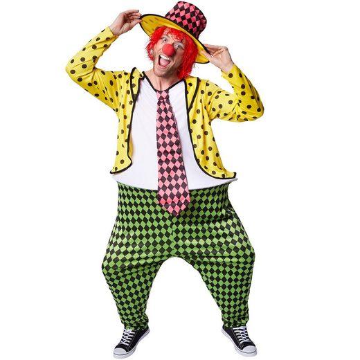 tectake Clown-Kostüm »Herrenkostüm opulenter Clown Pepe«