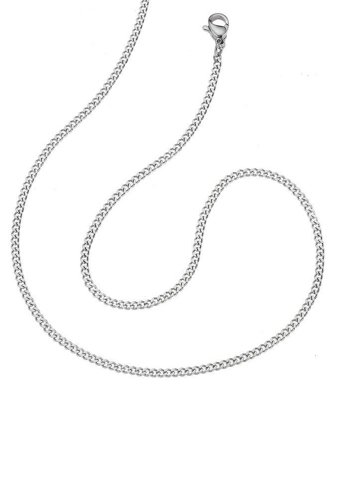 firetti Halsschmuck: Halskette / Collierkettchen in Panzerkettengliederung in silberfarben