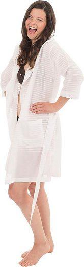 Damenbademantel »6352«, Wewo fashion, aus leichtem Pestemal