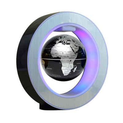 autolock Globus »Magnetische Levitation Floating Globe O-Form LED-Weltkarte Home Decor Educational EU«, Mit Federungsfunktion