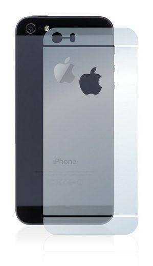 BROTECT Schutzfolie »Panzerglasfolie für Apple iPhone 5S Rückseite (gesamte Fläche + LogoCut)«, Schutzglas Glasfolie klar