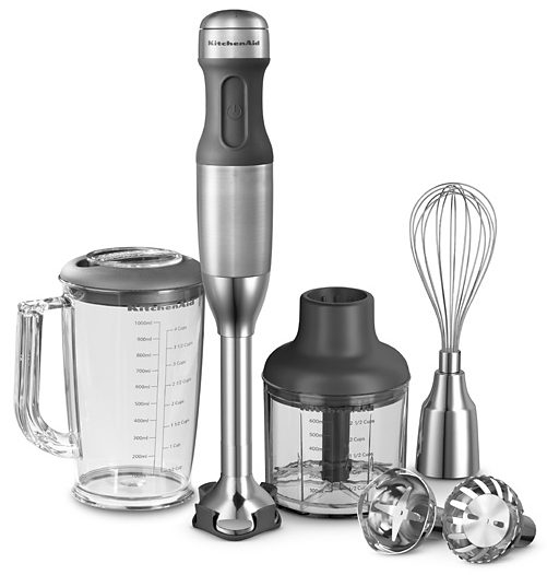 KitchenAid Stabmixer 5KHB2571ESX, 180 W, 180 Watt, 5 Stufen
