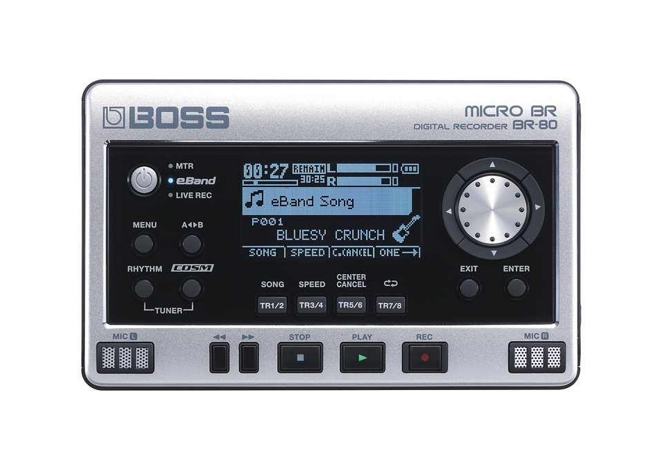 Digitales Aufnahmegerät, Boss by Roland, »BR-80« in silberfarben