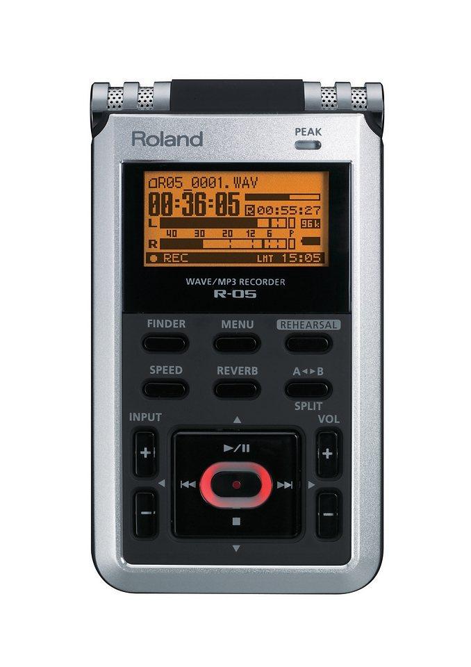 Aufnahmegerät, Roland, »R-05« in silberfarben