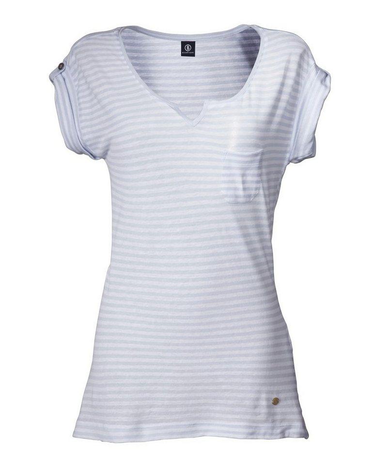 Bogner Jeans Streifenshirt in Bleu/Weiß