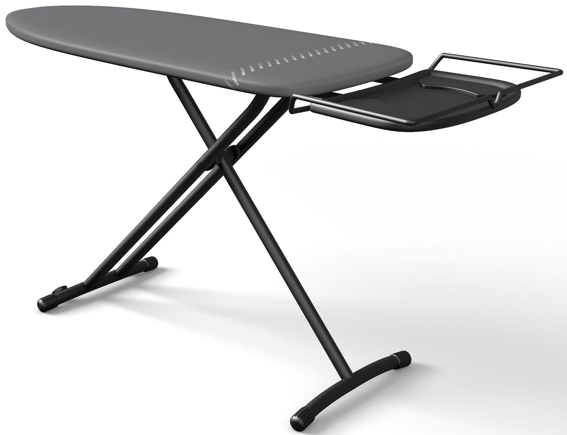 LAURASTAR Bügelbrett PLUSBOARD, Bügelfläsche 125x42 cm, elegantes Design